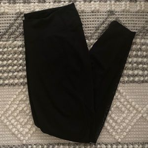 High Rise Old Navy Black Mesh Leggings